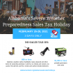 This weekend's severe weather sales tax holiday gives Alabamians tax-free reason to prepare for natural disasters
