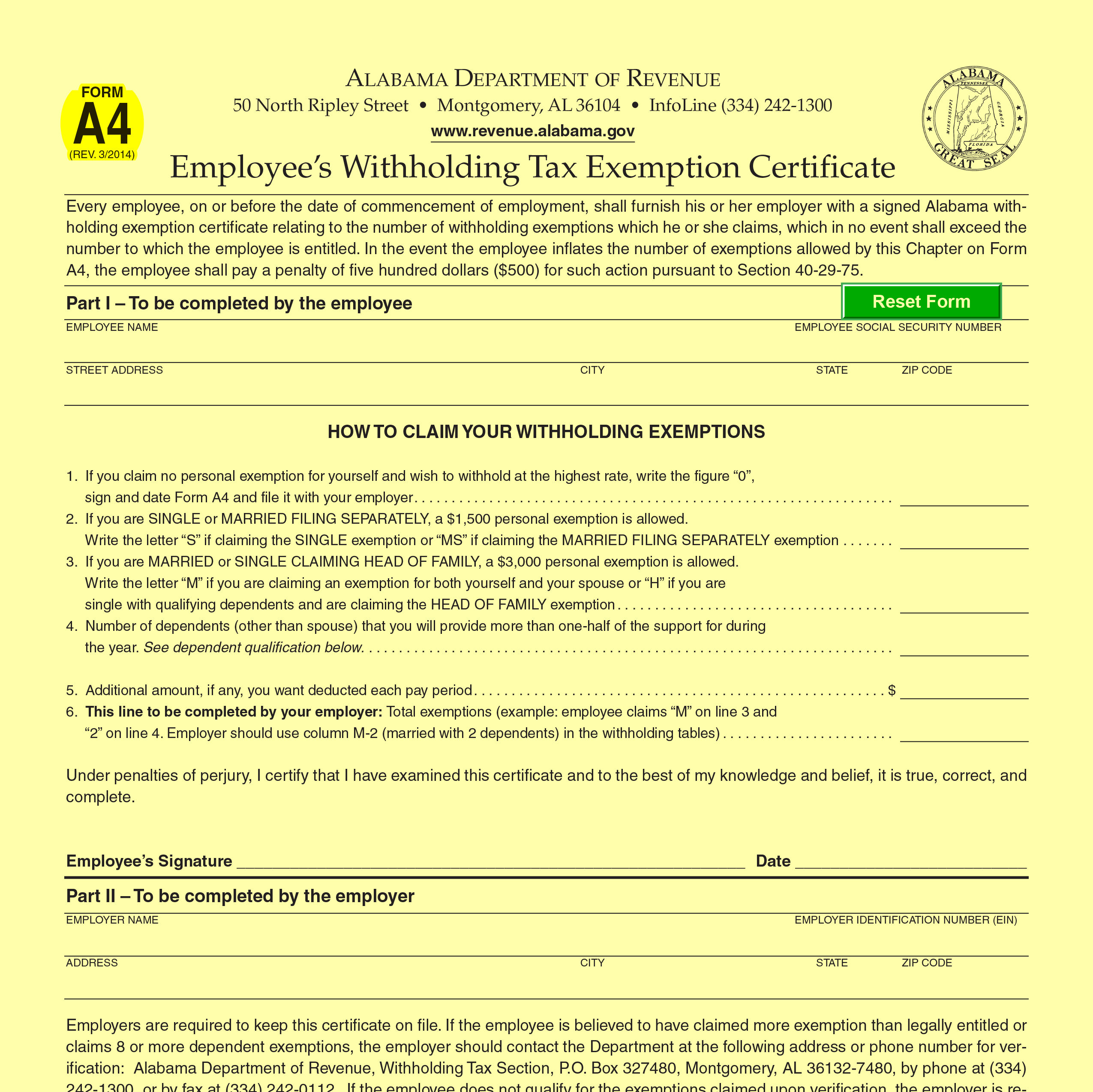 Alabama Income Tax Withholding Changes Effective Sept. 1