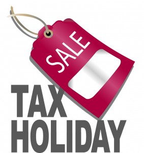 Tax holiday